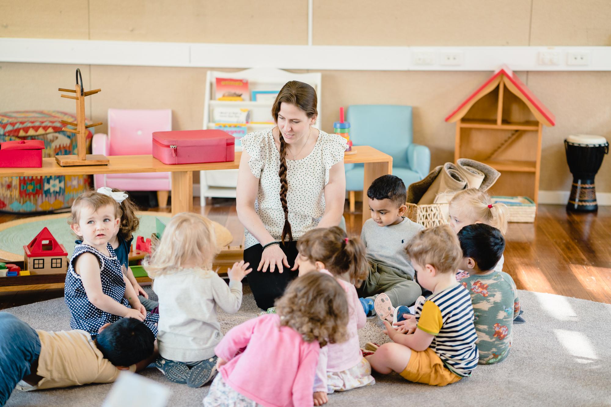 Students and Teachers at the Plenty Valley International Montessori School St Helena Melbourne